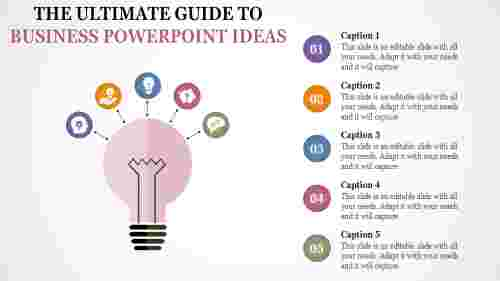 business powerpoint ideas - pink bulb