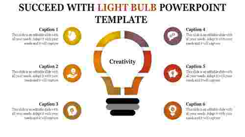 light bulb powerpoint template - multi color