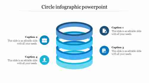 Circle infographic powerpoint in Cylinder Design