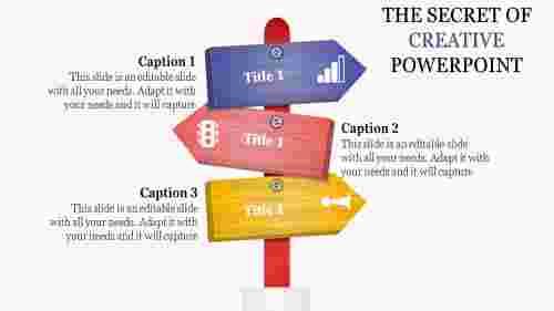 creative powerpoint presentation - direction arrows