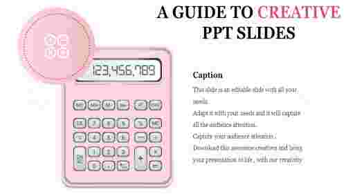 creative powerpoint slides - calculator model