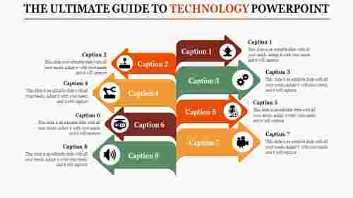 technology powerpoint presentation - eight arrows