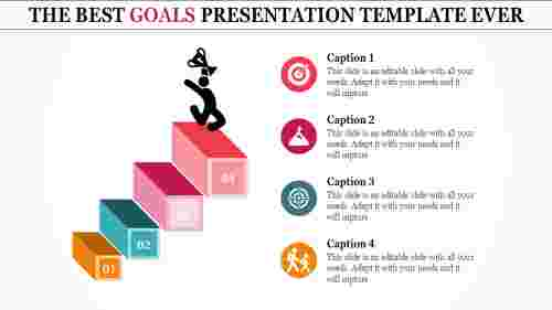 goals presentation template - reach success