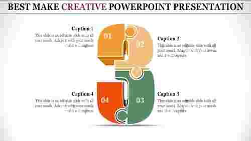 creative powerpoint presentation - three puzzle