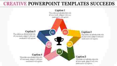 creative powerpoint templates - star model