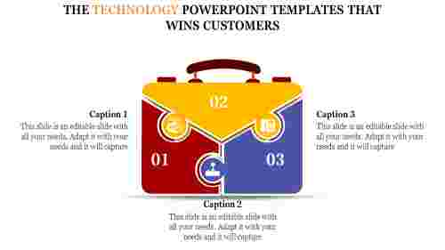 technology powerpoint templates - bag model