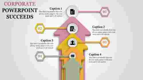 corporate powerpoint - four arrows