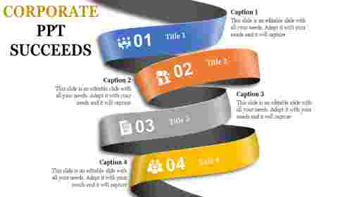 corporate powerpoint - ribbon model