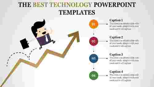 technology powerpoint templates to reach success