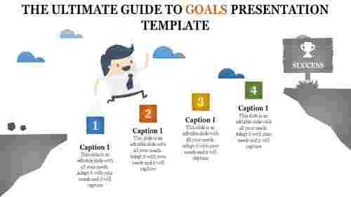 goals presentation template -  achievement