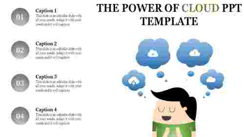 Cloud powerpoint template - storage