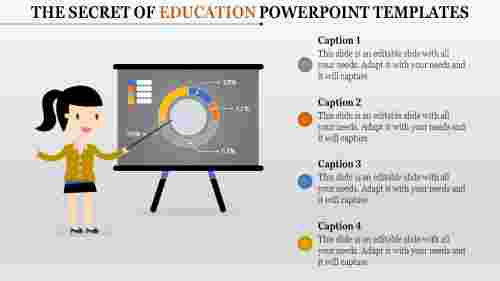 Education powerpoint template - dashboard