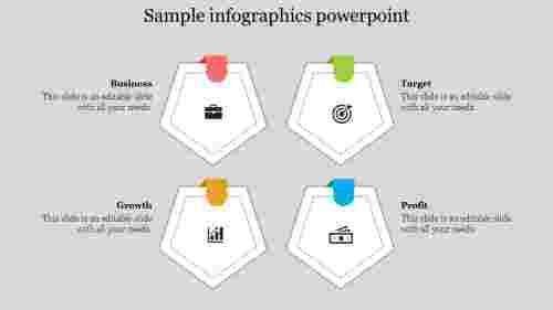 sampleinfographicspowerpoint-Pentagonshape