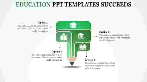 PencilmodeleducationPPTtemplates-fournode