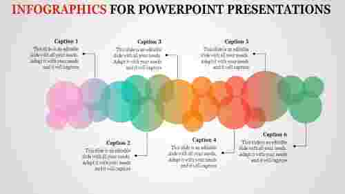 Circles infographics for powerpoint presentation