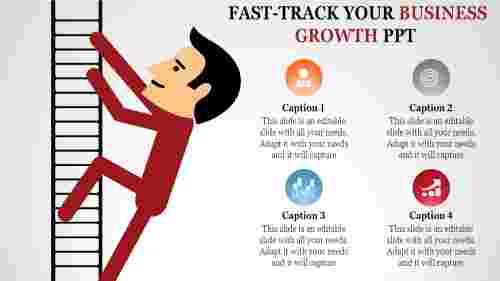 business growth ppt templates-Fast-Track Your BUSINESS GROWTH PPT
