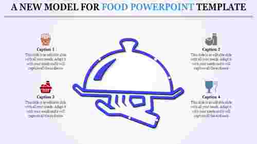 food powerpoint template with equipment designs