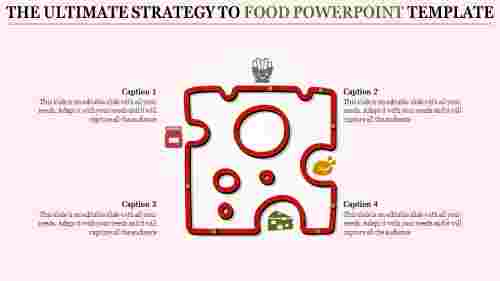 food powerpoint template - Puzzle model