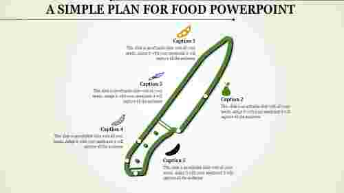 food powerpoint template - Knife model