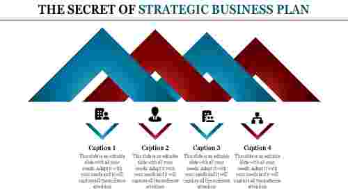 strategic business plan with chevron shapes