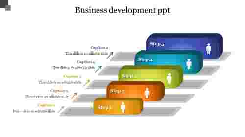 Five%20stages%20business%20development%20PPT%20templates