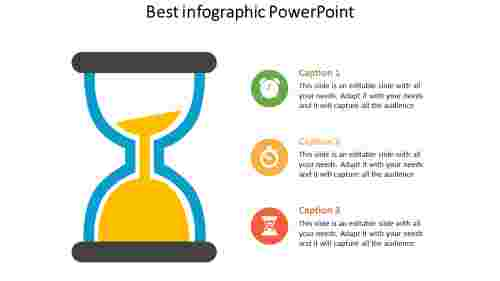 infographic powerpoint with time measurement device