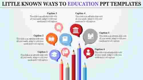 Pencil model education PPT template