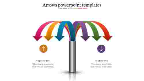 Multiple arrows PowerPoint templates