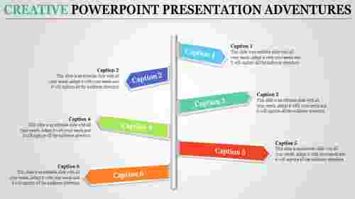 Zig-Zag arrow creative PowerPoint presentation