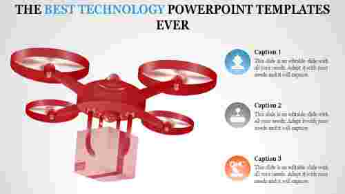 Round model technology PowerPoint templates