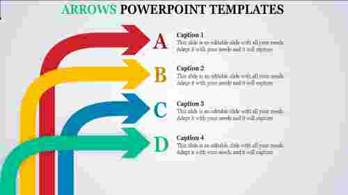 Infographic arrows powerpoint templates