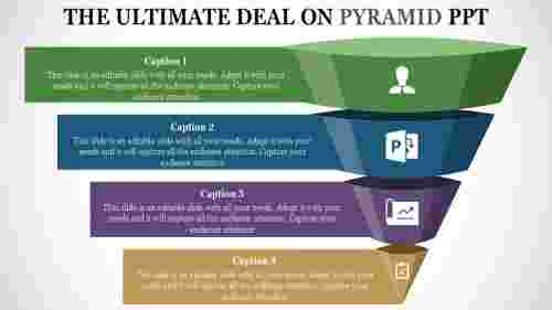 pyramid PPT template-upleft view