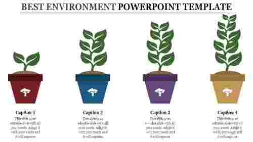environment powerpoint template with tree model