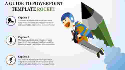 powerpoint template rocket - space invention