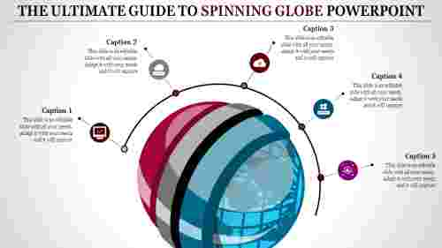 spinning globe powerpoint - multi color
