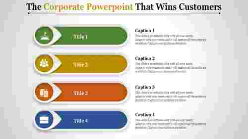 corporate powerpoint - four stage