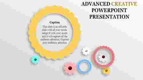 creative powerpoint presentation- white background