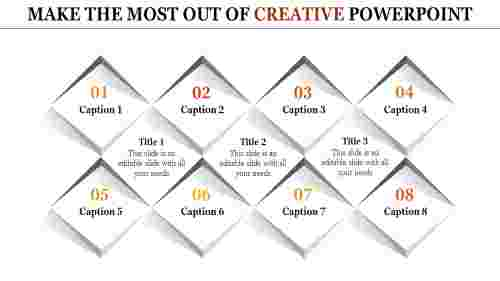 creative powerpoint presentation - eleven diamonds