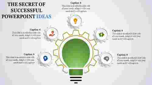 powerpoint presentation ideas - green bulb