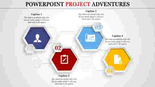 powerpoint project - four hexagonal