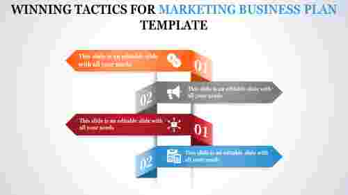 marketing business plan template - layered rectangle