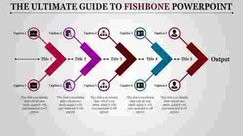fishbonepowerpoint-multicolorfivearrows