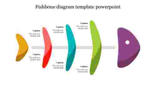 Fishbone diagram powerpoint template design