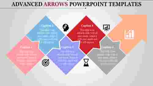 arrows powerpoint templates - diamond