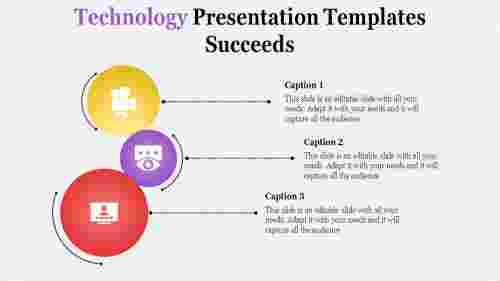 technology presentation templates - three circles