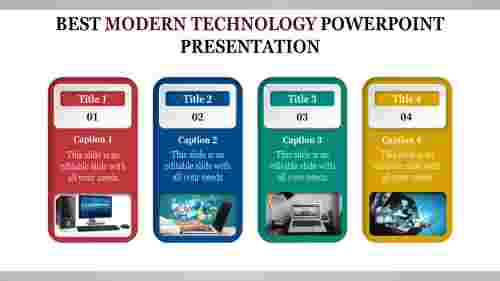 Linear modern technology powerpoint presentation