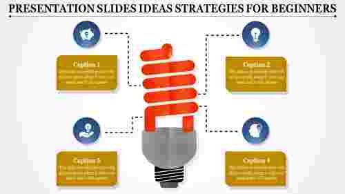presentation slides ideas with bulb model