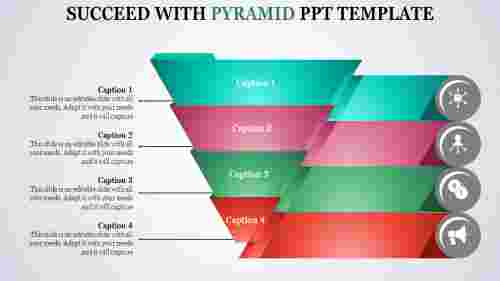 pyramid powerpoint template - Funnel shaped