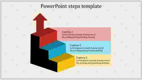 A three noded powerpoint steps template