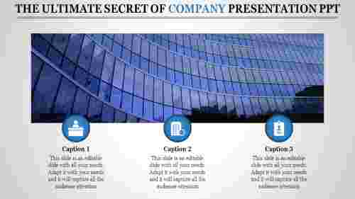 company presentation powerpoint with building image